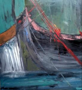 a Boat, 100X110 cm., o/c, 2013