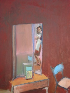 Self Portrait in Red, o/c, 70X60 cm., 2008