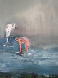 A woman and a Bird, o/c, 40X30 cm., 2012