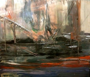 Floating Machinery, o/c, 150X175 cm., 2013