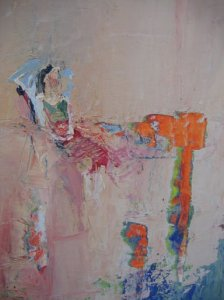 Model in Boston, oil on clayboard, 40X30 cm., 2006 SOLD (Granot)